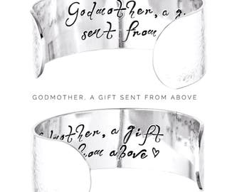 Godmother Gift | Gifts for Godmothers | Christening Gift | Baptism Gift | Godmother Bracelet | Gifts for her | Godmother Jewelry (B022)