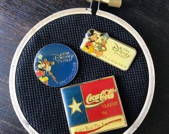 Coca cola vintage pin - disney vintage pin - pin set - rare pin - disneyland vintage pin - mickey mouse vintage pin - disney store pin -