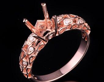1ct round diamond Platinum Ring/14k white gold ring/Weddings/DYR-024R