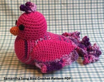 Bird crochet pattern - bird amigurumi pattern - parakeet crochet pattern - dove crochet pattern - dove amigurumi pattern