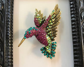 Crystal Hummingbird Needle Minders