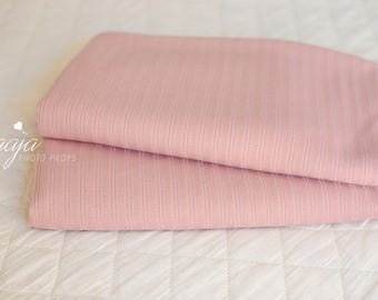 SALE! Pink beanbag fabric backdrop, posing, Striped texture, Photo prop RTS