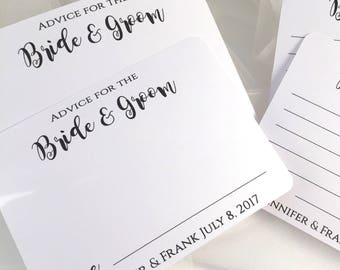 Advice for the bride and groom cards - wedding well wishes cards