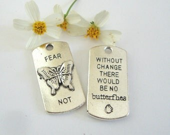 Butterfly Word Charm