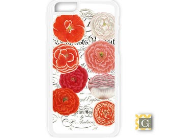 Galaxy S8 Case, S8 Plus Case, Galaxy S7 Case, Galaxy S7 Edge Case, Galaxy Note 5 Case, Galaxy S6 Case - Orange Carnations
