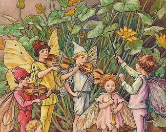 A Fairy Orchestra - Counted cross stitch pattern in PDF format