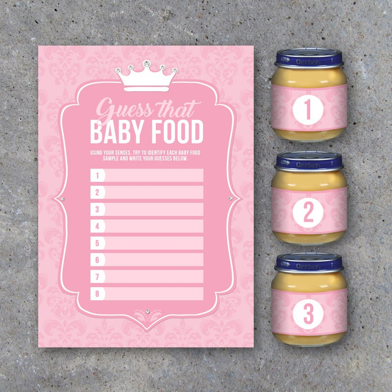 Baby Shower Guess That Baby Food Game with Baby Food Jar Labels ...