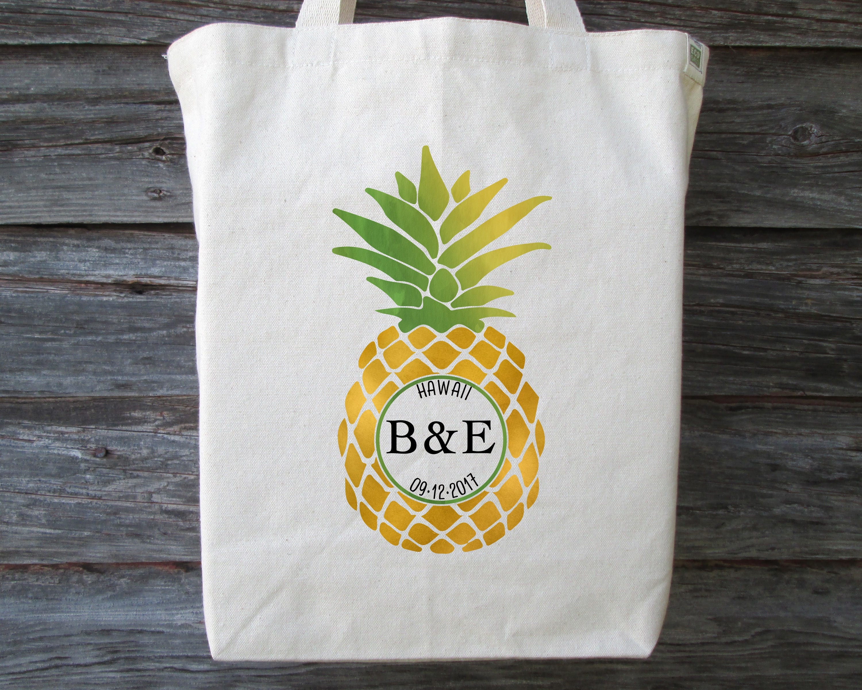 Pineapple Wedding Tote Bag Pineapple Wedding Destination Wedding