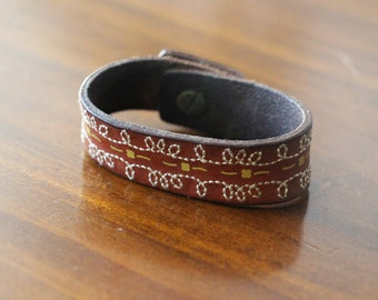 Faux Leather Cuff Bracelet