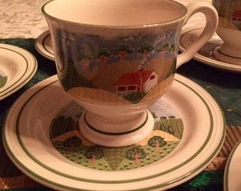 Sango Country Cottage Cup and Saucer