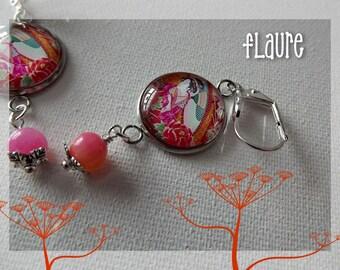 Geisha cabochon earrings