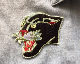 Panther patch-traditional tattoo patch