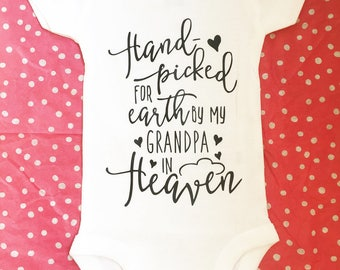 Handpicked for Earth by Grandpa onsie
