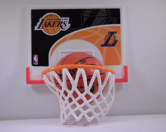Los Angeles Lakers NBA Basketball Cake Decorations Kit Party Favors Basketball Hoop