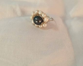 Freshwater pearl ring size 10