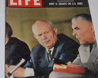 "Vintage May 30, 1960 ""Life"" Magazine - N. Kruschev Cover."