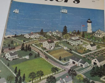 "Vintage July 16, 1949 ""Colliers"" Magazine - Harbor Town Cover"