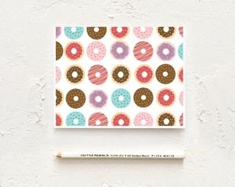Donut Stationery Cards, Donut Note Cards, Pattern Stationery, Correspondence Card, Thank You Card, Stationery Set, Birthday Thank You