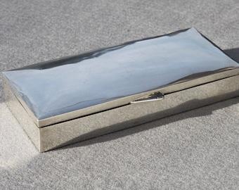 Vintage Silver Cigarette Box ~ Humidor ~ Trinket box
