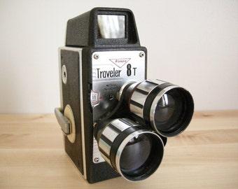 8mm Rondo Cine Movie Camera ~ Retro Filmography ~ 1960's ~ Mid Century ~ Model 8T Traveler