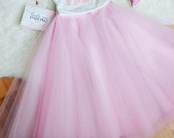 Light Pink Tulle Skirt, Tulle skirt, Engagement Tulle skirt, Holiday Tulle skirt, Christmas Tulle skirt, Wedding Tulle Skirt