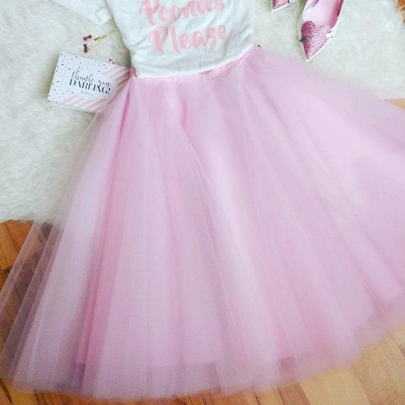 Pink Tulle Skirt, Tulle skirt, Engagement Tulle skirt, Holiday Tulle skirt, Christmas Tulle skirt, Wedding Tulle Skirt
