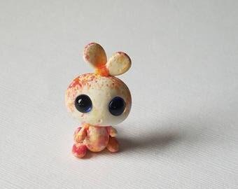 Miniature bunny, bunny figurine, colorful bunny, little bunny, bunny, miniatures, polymer clay, art bunny