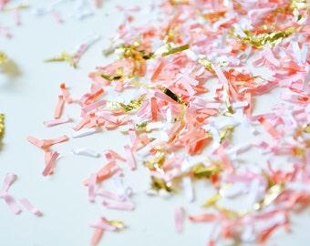 Gold Blush Confetti, Peach Wedding Confetti, Peach Paper Confetti, Birthday Confetti, Peach Party Confetti, Photo Confetti, Table Confetti