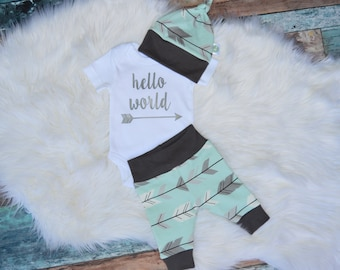 coming home outfit boy, hello world newborn outfit, boy coming home outfit, newborn boy coming home outfit, newborn boy photo outfit,