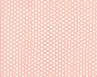 Sweet Marion Lipstick Dots from April Rosenthal for Moda, Peach Pink Dot Fabric