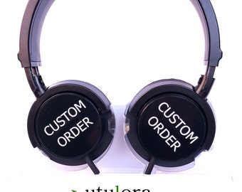 CUSTOM HEADPHONES gift for boyfriend girlfriend music order