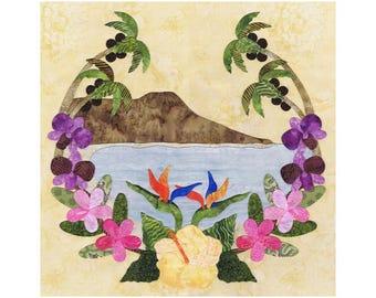 P3 Designs American Album Quilt Block 27 for Hawaii P3-2027