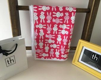 Zoology Pink Bunnies - Plush Trendy Comfort Blanket