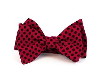 Red Polka - Bow Tie