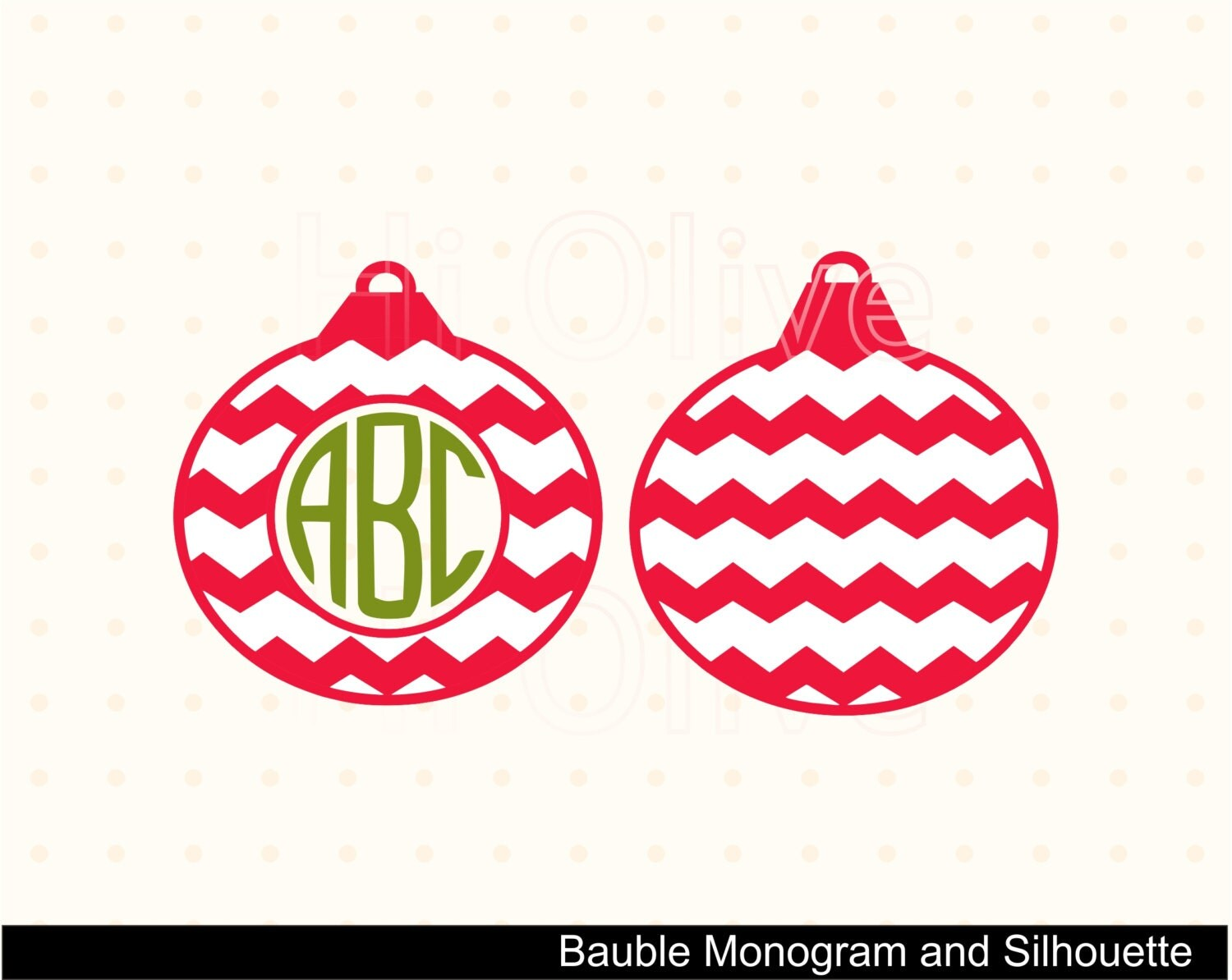 Christmas ornament monogram clip art bauble vector by