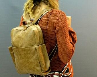 "Sale!! Leather backpack, 13"" laptop backpack, Medium backpack, brown backpack, Men backpack, Macbook backpack, Women backpack, work backpack"