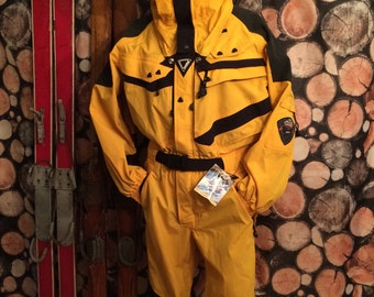 RETRO HELLY HANSEN Equipe Heli Ski Suit 90s Onesie for Slushfest Men's Day Ski Party