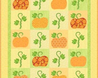 Pumpkin Time Quilt Pattern - INSTANT DOWNLOAD