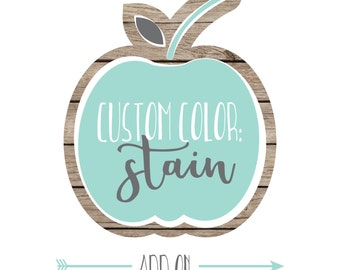 Listing Add-On: Custom STAIN Color(s)