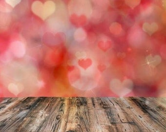 Valentine's Day photography backdrop,children protraits photoshoot background, Newborns bokeh love hearts photography backdrops XT-5186