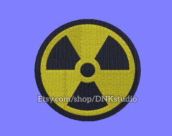 Nuclear Symbol Embroidery Design - 6 Sizes - INSTANT DOWNLOAD