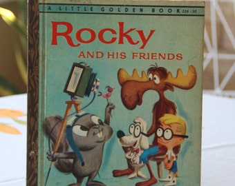 Vintage Little Golden Book Rocky and His Friends  1961