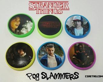 Stranger Things Pog Slammers - Set of 6