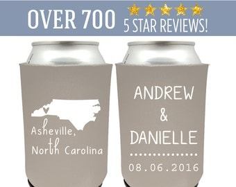 Carolina Wedding Can Coolers, Asheville Can Coolers, North Carolina Can Coolers, North Carolina Wedding Can Coolers, NC Wedding Favors (5)