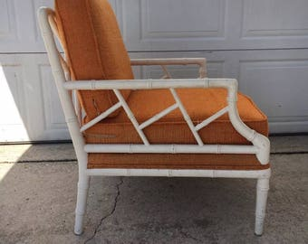Faux Bamboo CHIPPENDALE Lounge Chair