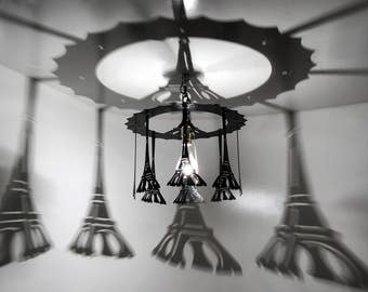 Eiffel Tower light, hanging Eiffel Tower,Chandelier, home and living, home decor
