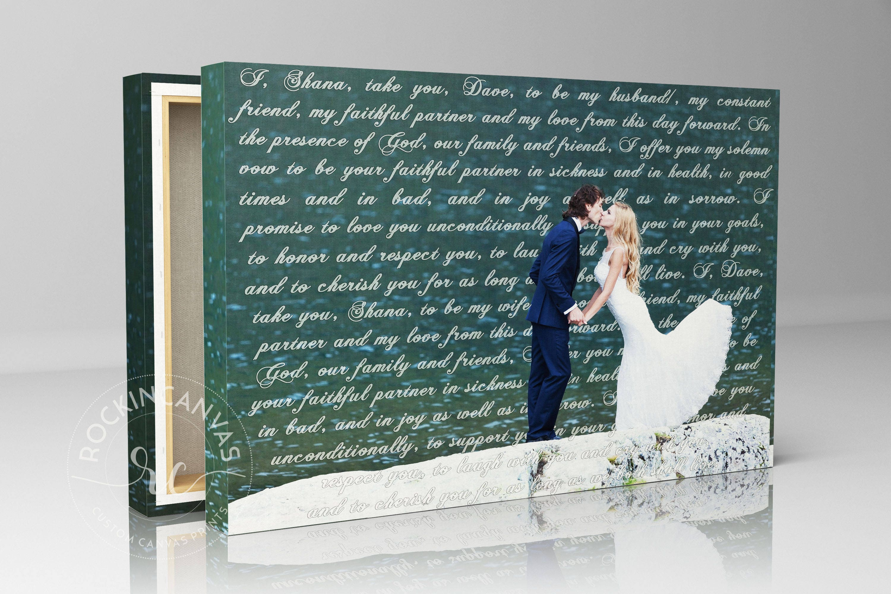 Wedding Gift For Him: Cotton Anniversary Gift For Him Canvas Wedding Lyrics Text