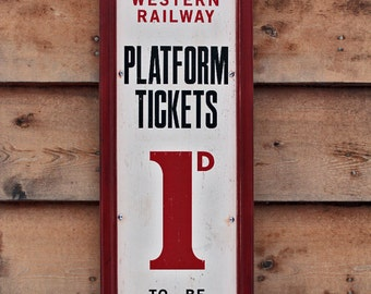 NEW!!** Vintage wooden sign 'London and South Western Railway'