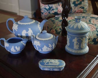 Vintage Wedgewood Jasperware Lot not including the Matchbox with Lid
