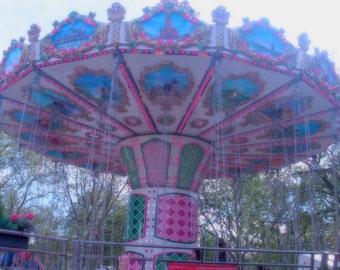 "The Funfair Came To Town (6"" x 4""Colour Print SET of 5) We Galloped Like Carousels (Part II)"
